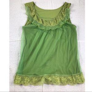 Flirty green vintage flowing top